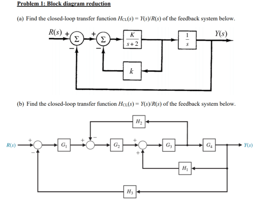 small resolution of problem 1 block diagram reduction ek r s y s