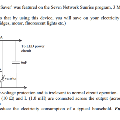 Home Power Saver Circuit Diagram 97 Ford Expedition Fuse Box Solved Q2 The Enersonic Was Featured On Seven Network Sunrise Program 3