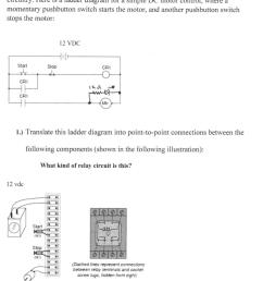 a very common application of electromechanical relay logic is motor control circuitry here is a [ 847 x 1024 Pixel ]