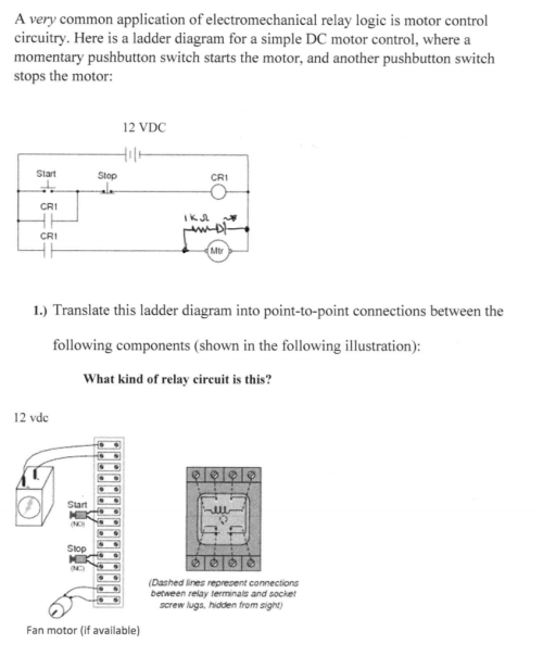 small resolution of a very common application of electromechanical relay logic is motor control circuitry here is a