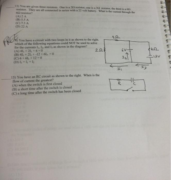 Series Circuit With 3 Resistors