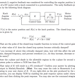 in homework 3 negative feedback was considered for controlling the angular position shaft angle [ 1024 x 921 Pixel ]