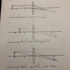 Lenses For Ray Diagram Physics Palm Tree Parts Solved Worksheet 311 Compl Question Complete The Following Diagrams And Describe