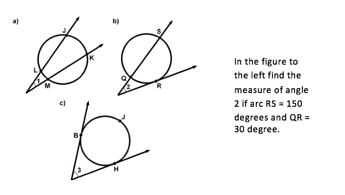 Chapter 10 circles geometry test answers