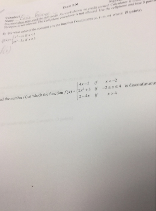 Solved: For What Value Of The Constant C Is The Function F... | Chegg.com