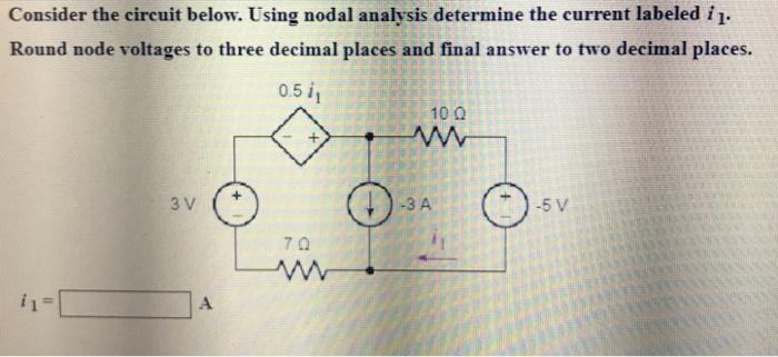 Transcribed Image Text 6 Use Nodal Analysis To Find The Short Circuit