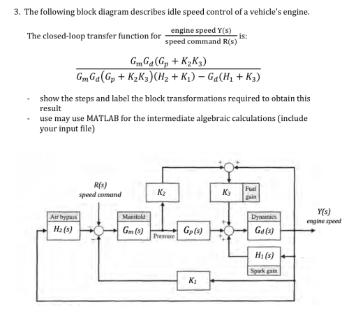 small resolution of the following block diagram describes idle speed control of a vehicles engine engine