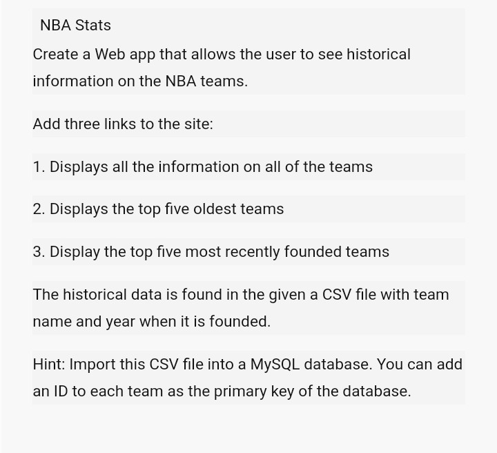 solved nba stats create