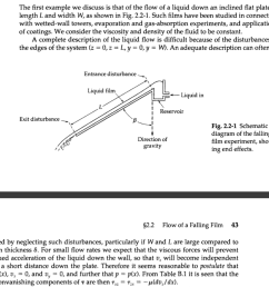 question the first example we discuss is that of the flow of a liquid down an inclined flat plate of lengt  [ 1024 x 918 Pixel ]