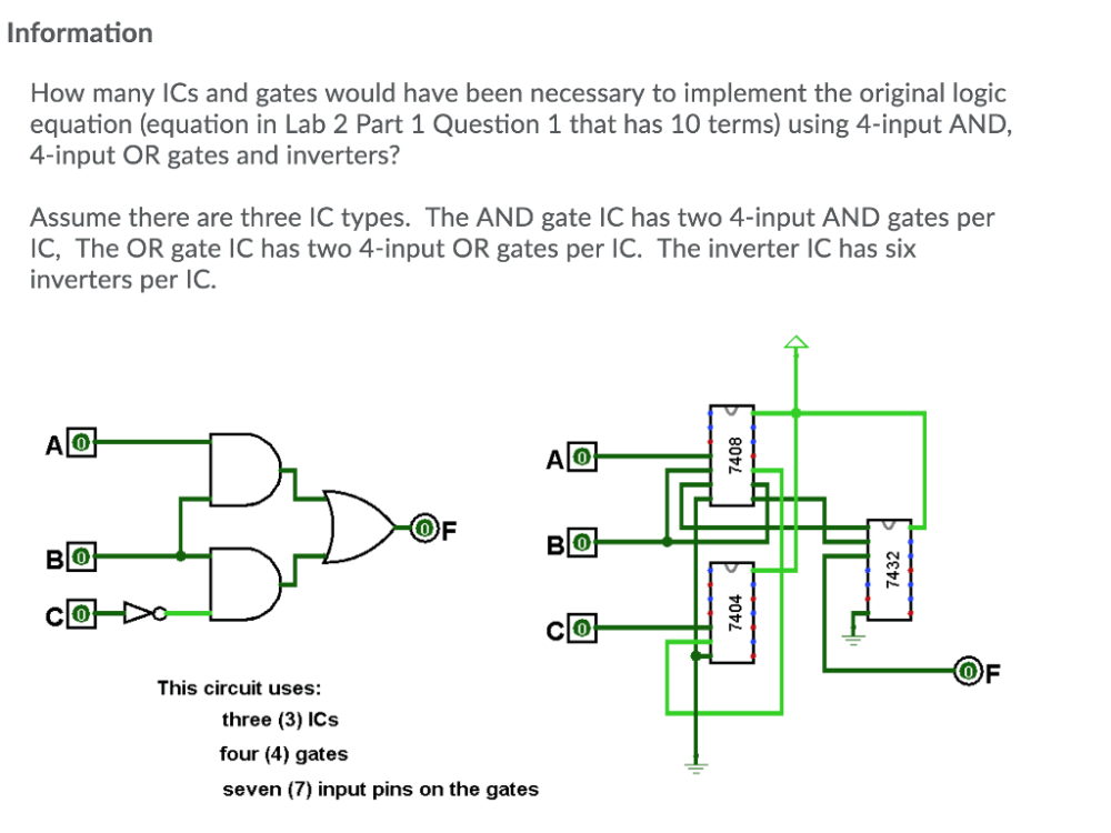 medium resolution of information how many ics and gates would have been necessary to implement the original logic equation