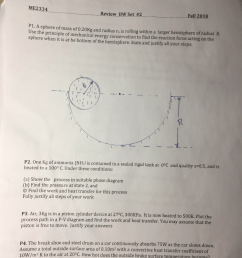 me2334 review hw set 2 fall 2018 p1 a sphere of mass of 0 20 [ 768 x 1024 Pixel ]
