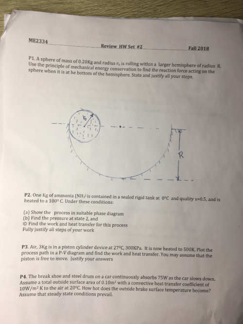 small resolution of me2334 review hw set 2 fall 2018 p1 a sphere of mass of 0 20