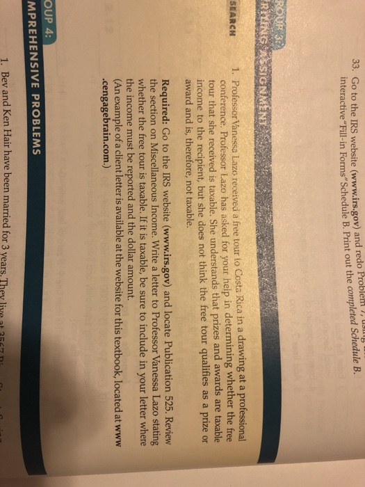 Solved: 33. Go To The IRS Website (www.irs.gov) And Redo P... | Chegg.com