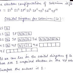 Show The Orbital Filling Diagram For Bromine Car Electrical Wiring Diagrams Selenium All Data Solved How Many Unpaired Electrons Are In Dia
