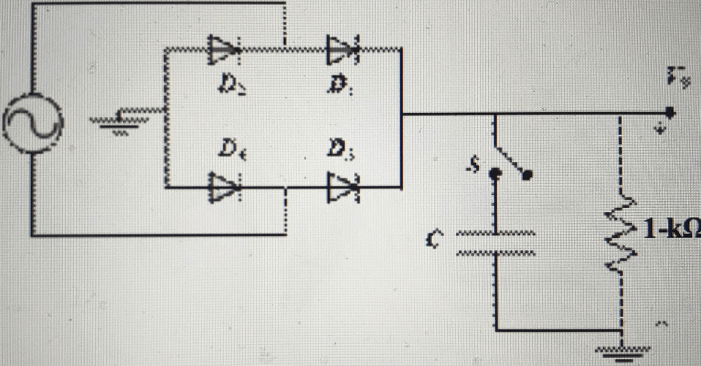 Solved: In Circuit Shown Aside. The Diodes D1.2.3.4 Are Id...   Chegg.com