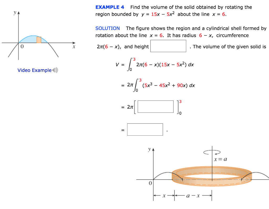 Solved Example 4 Find The Volume Of The Solid Obtained By