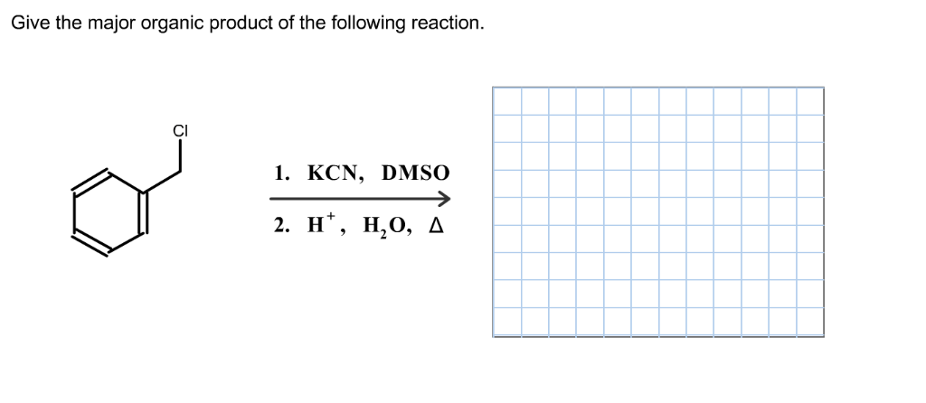 Solved: Give The Major Organic Product Of The Following Re