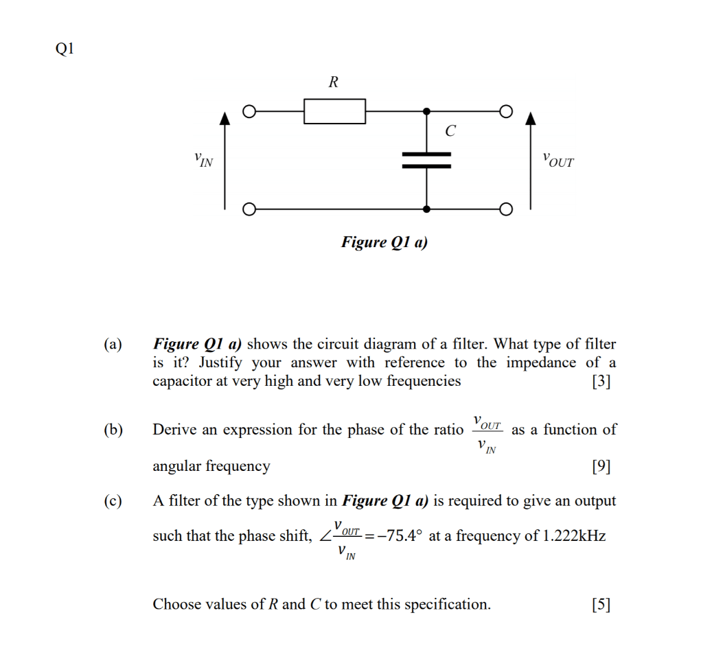 hight resolution of in out figure q1 a figure q1 a shows the circuit diagram of a