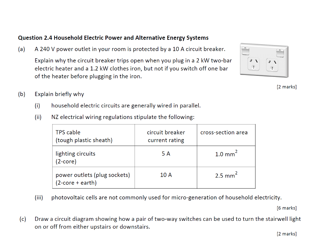 hight resolution of question 2 4 household electric power and alternative energy systems a a 240 v power