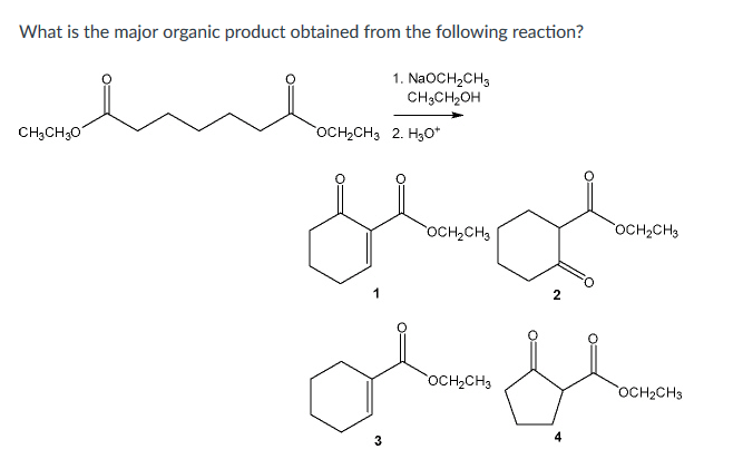 Solved: What Is The Major Organic Product Obtained From Th... | Chegg.com