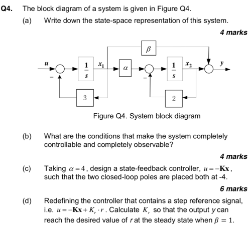 small resolution of the block diagram of a system is given in figure q4 a