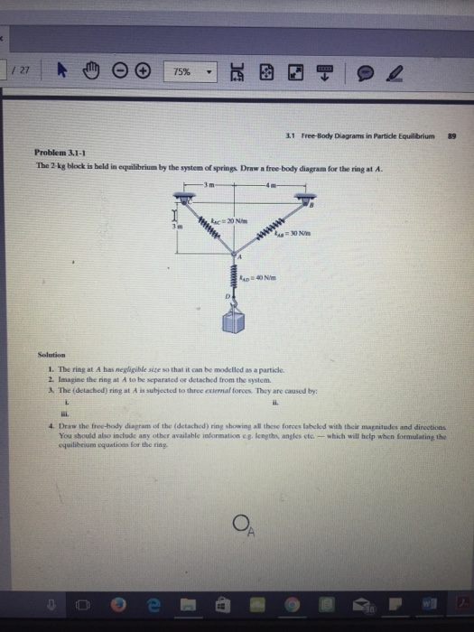 Problem Draw The Free Body Diagram Of The C By Mainskweeze