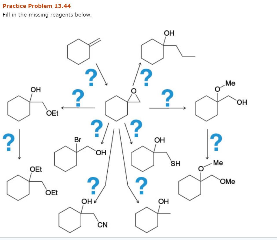 Solved: Practice Problem 13.44 Fill In The Missing Reagent