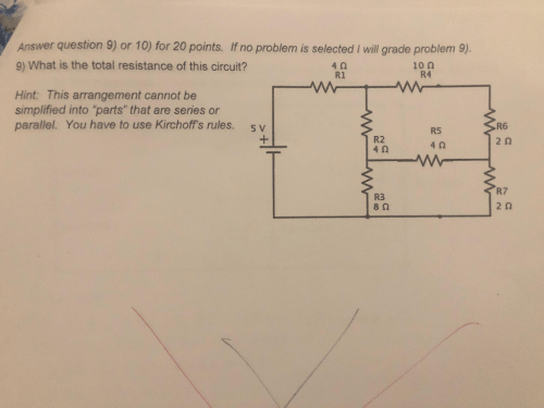 small resolution of  answer question 9 or 10 for 20 points if no problem is selected