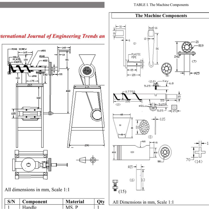 Solved: Draw 2d Sketch Of The Meat Grinder In The Figure B