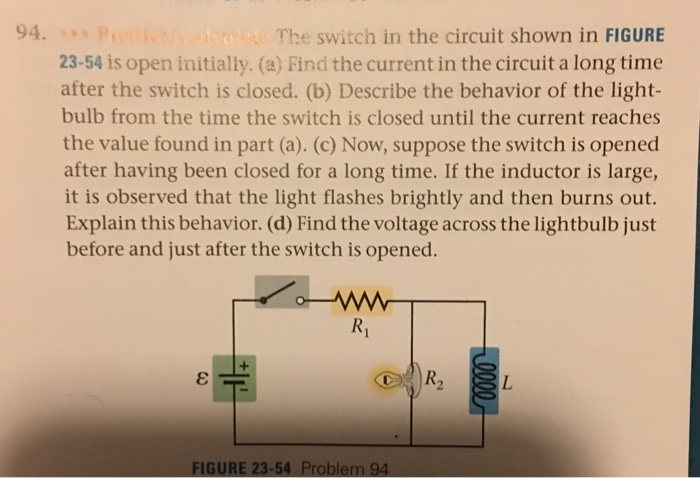 Circuit If Switch 1 Is Closed Bulb A Burns Normally If 2 Is Closed