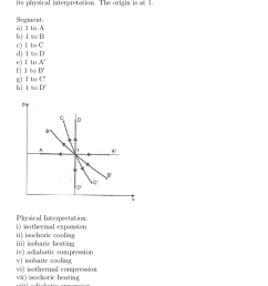 match the figure parts on the illustrated pv diagram for an ideal gas with [ 868 x 1024 Pixel ]