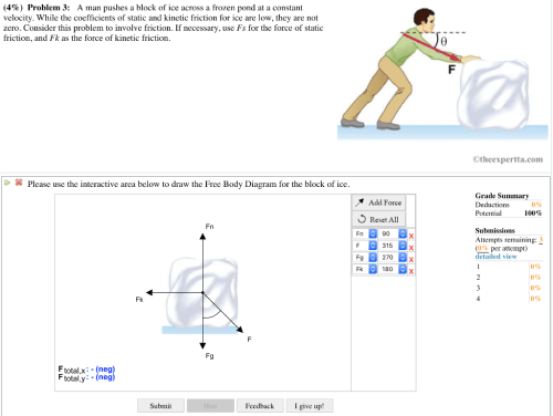 small resolution of  4 problem 3 a man pushes a block of ice across a