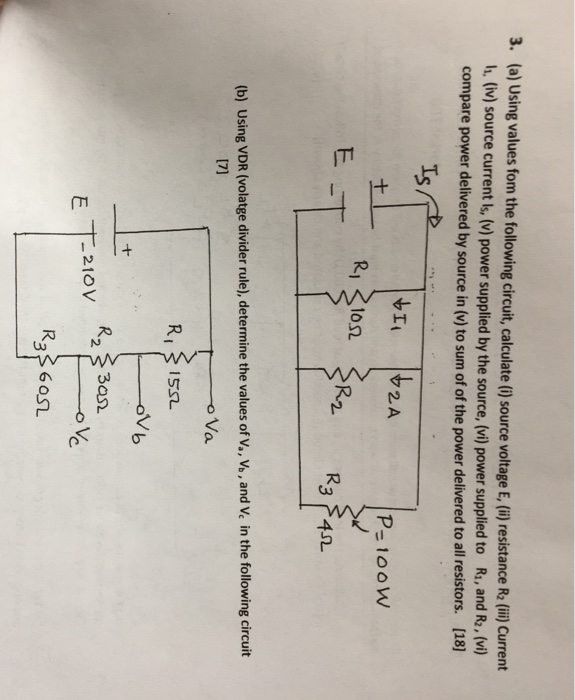 The Following Circuit Is Used To Show The Voltage Divider Principle