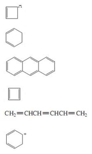 1. Which Of The Following Compounds Are Antiaromatic