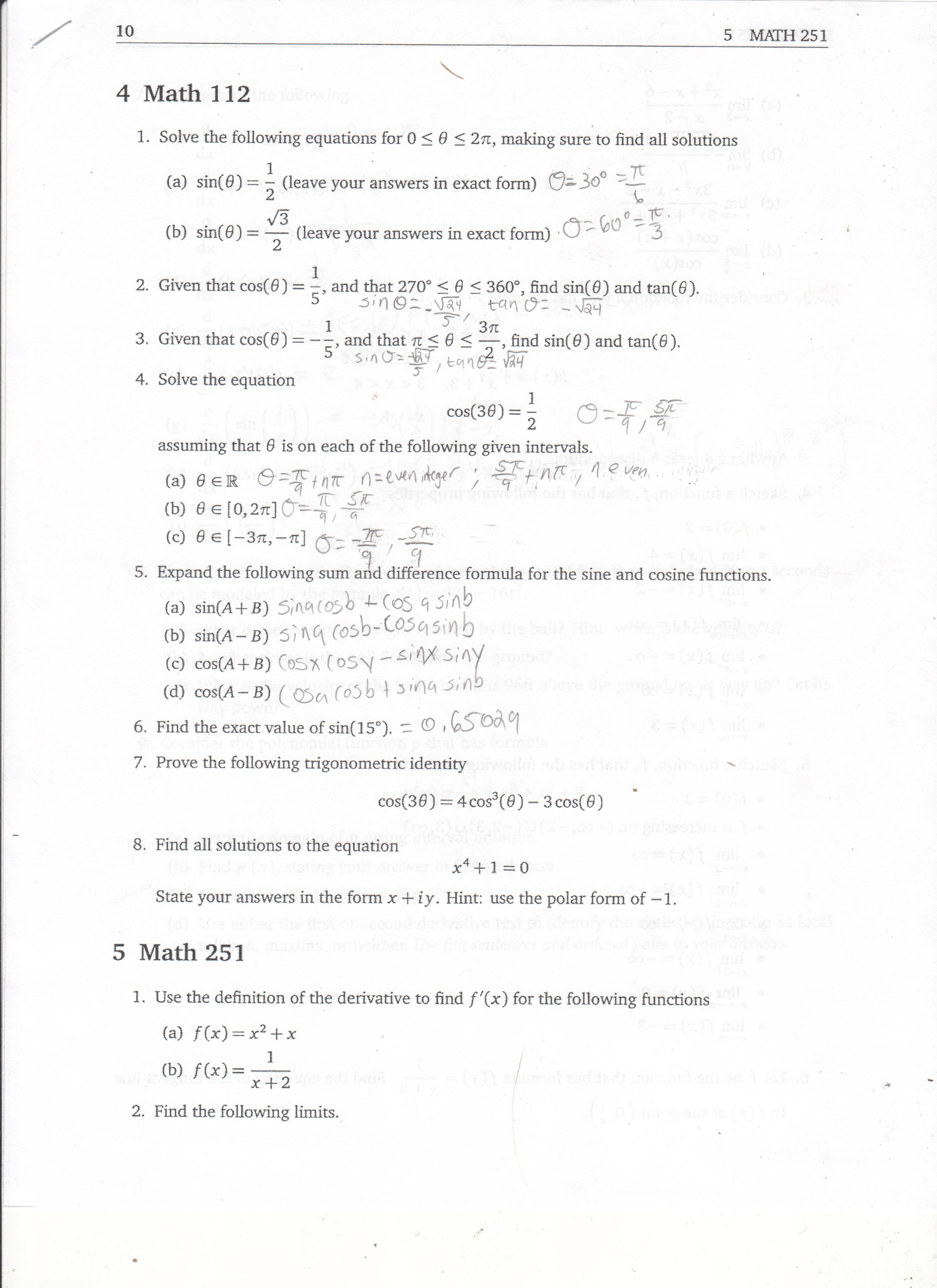 Please Help Me Solve Questions 7 And 8 And Also Please Checkmy Work To Make Sure That It Is