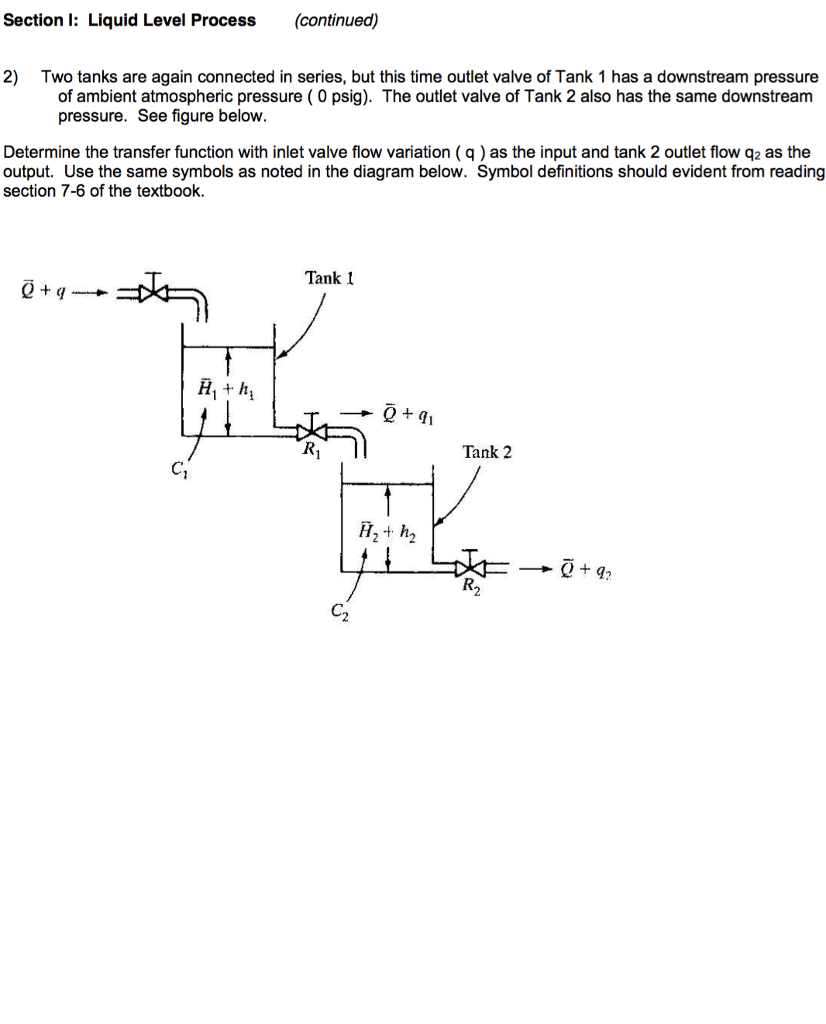 hight resolution of section l liquid level process continued 2 two tanks are again connected