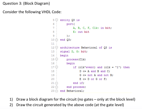 small resolution of question 3 block diagram consider the following vhdl code 5 entity q3