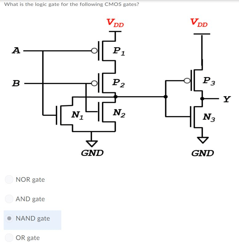 Solved: What Are The Status Of The Following CMOS Gates Wh