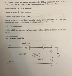 1 voltage current and average power of a series rl load is measured to [ 1017 x 1024 Pixel ]