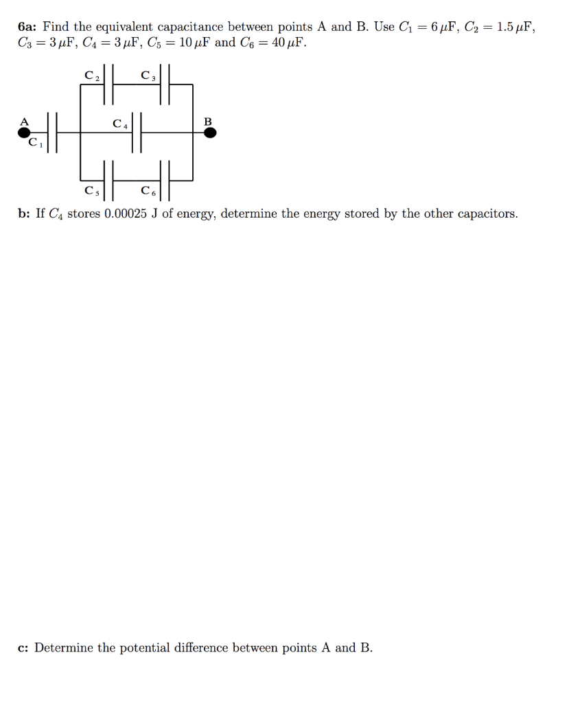 hight resolution of 6a find the equivalent capacitance between points a and b use g 6