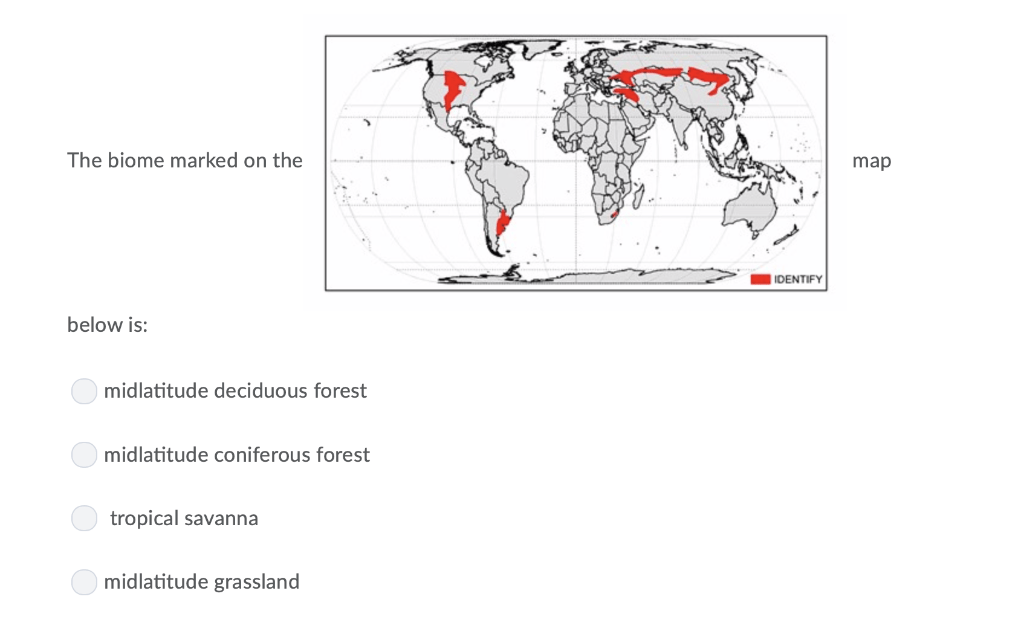 We used the dorman and sellers vegetation classification with inclusion of a new biome: The Biome Marked On The Map Identify Below Is Chegg Com