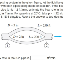 for the piping system in the given figure let the fluid be gasoline at 20 [ 1024 x 789 Pixel ]