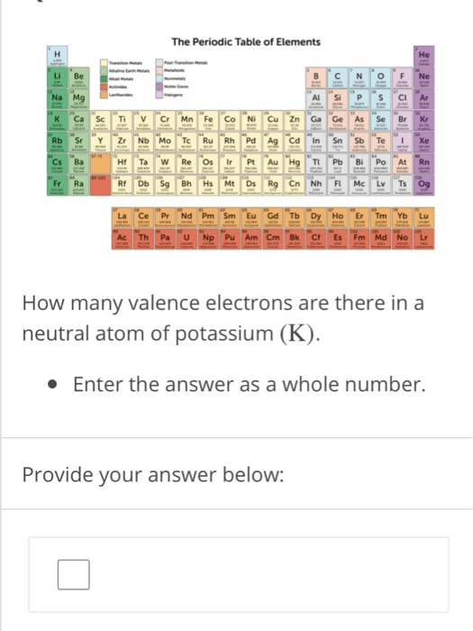 How Many Valence Electrons Does Li Have : valence, electrons, Solved:, Periodic, Table, Elements, Chegg.com