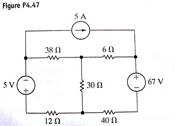 Use Mesh Current To Find Power Delivered By The