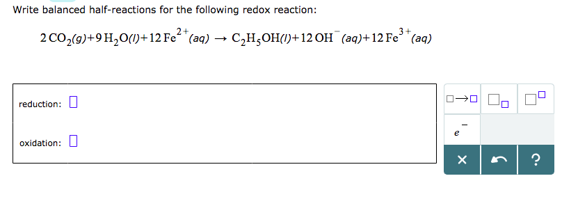 Solved: Write Balanced Half-reactions For The Following Re