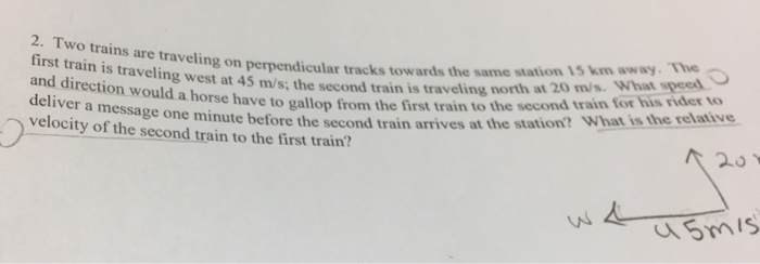 Solved: Two Trains Are Traveling On Perpendicular Tracks T