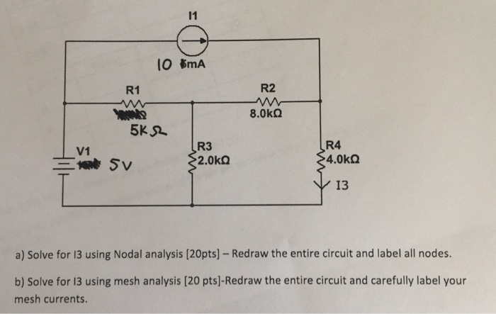 Problem 110 Solving By Nodal Analysis Circuit With Four Nodes