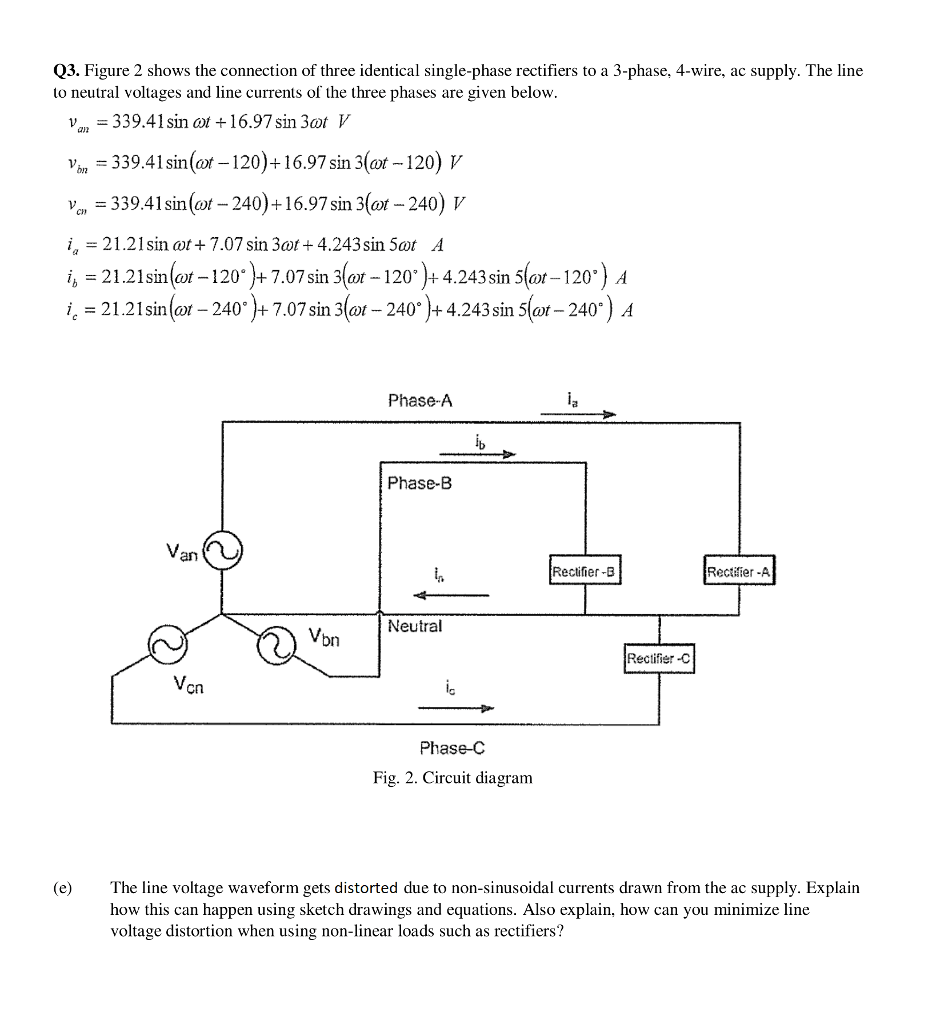 medium resolution of figure 2 shows the connection of three identical single phase rectifiers to a