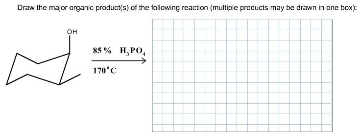 Draw The Major Organic Product(s) Of The Following