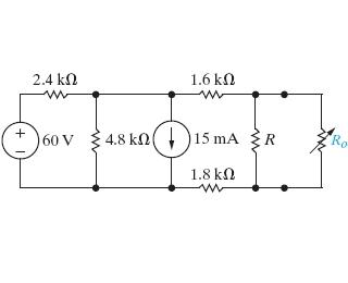 Maximum Power Transfer To Ro. Suppose That 9 KOHM